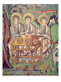 The Three Angels, Detail of the Hospitality of Abraham and the Sacrifice of Isaac, 6th Century Lámina giclée por  Byzantine