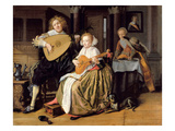 A Young Man Playing a Theorbo and a Young Woman Playing a Cittern, C.1630-32 (Oil on Canvas) Giclee Print by Jan Miense Molenaer