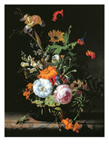 Still Life of Summer Flowers Premium Giclee Print by Rachel Ruysch