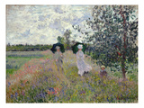Promenade Near Argenteuil, 1873 (Oil on Canvas) Giclee Print by Claude Monet