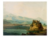 The Rope Bridge at Serinagur, c.1800 Giclee Print by Thomas Daniell