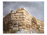 Detail of a Stone Wall (Photo) Giclee Print by  Mycenaean