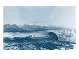 Launching Boats across a Reef Opposite to Mount Conybeare Giclee Print by George Back