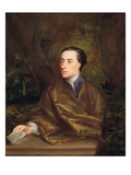 Alexander Pope (1688-1744) 1738 (Oil on Canvas) Giclee Print by Jonathan Richardson