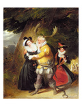 "Falstaff at Herne's Oak from ""The Merry Wives of Windsor"", Act V, Scene V, 1832 (Oil on Panel) Giclee Print by James Stephanoff"
