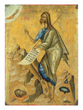 St. John the Baptist (Tempera on Panel) Giclee Print by Cretan