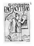 Pachacuti Inca, the Ninth Sapa Inca (Woodcut) Giclee Print by Felipe Huaman Poma De Ayala