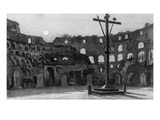The Colisseum by Moonlight, Engraved by Charles George Lewis (Engraving) Giclee Print by Edward William Cooke