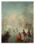 Winter Giclee Print by Jacques De Lajoue