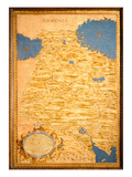 Map of Armenia (Oil on Panel) Giclee Print by Stefano Bonsignori