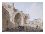 View in the Roman Forum (The Temple of Peace) 1779 (W/C with Pen and Ink over Pencil on Paper) Giclee Print by Abraham Louis Rudolph Ducros