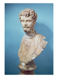 Bust of Septimus Severus (145-211) (Marble) Giclee Print by  Roman