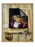 Trompe L&#39;Oeil Still Life, 1665 (Oil on Canvas) Giclee Print by Cornelis Norbertus Gysbrechts