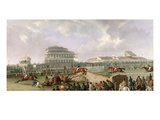 The Liverpool and National Steeplechase at Aintree 1843, C.1843 (Oil on Canvas) Giclee Print by William Tasker