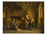 The Art Dealer (Oil on Panel) Giclee Print by Pierre Edouard Frere