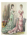 Paris Fashion, from 'Journal Des Demoiselles' Published Dupuy Paris, 1878 (Colour Litho) Giclee Print by  French
