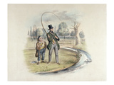 Perch Fishing, Teddington, from a Set of Six Images of 'Angling' (Hand-Coloured Litho) Giclee Print by Henry Heath