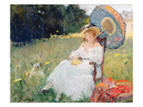The Parasol (Oil on Canvas) Giclee Print by Gennaro Befanio