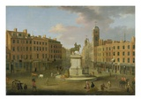 Charing Cross, with the Statue of King Charles I and Northumberland House, c.1750 Giclee Print by Joseph Nickolls