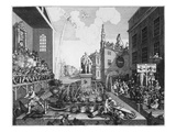 The Times, Plate Ii (Engraving) Giclee Print by William Hogarth