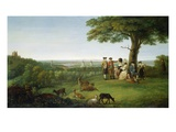 One Tree Hill, Greenwich, with London in the Distance, 1779 (Oil on Panel) Premium Giclee Print by John Feary