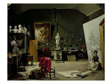 The Studio of Leon Cogniet (1794-1880) (Oil on Canvas) Giclee Print by Marie-Amelie Cogniet