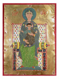 Virgin and Child Enthroned (Gold and Cloisonne Enamel) Giclee Print by  Byzantine