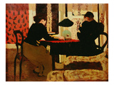 Women by Lamplight, 1892 (Oil on Canvas) Reproduction proc&#233;d&#233; gicl&#233;e par Edouard Vuillard
