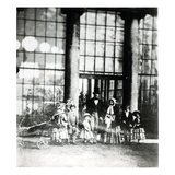 Queen Victoria and Prince Albert with their Children (B/W Photo) Giclee Print by Roger Fenton