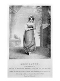 Mary Ann Paton as Reiza in Weber&#39;s &#39;Oberon&#39;, Engraved by Richard James Lane, C.1826 (Litho) Giclee Print by Frederick Meyer