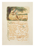 Spring', Plate 12 from 'Songs of Innocence and Experience', after William Blake (1757-1827) C.1808 Premium Giclee Print by  English