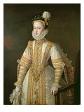Anne of Austria (1549-80) Queen of Spain, c.1571 Premium Giclee Print by Alonso Sanchez Coello
