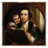 The Artist and His Son Raphael, C.1773 (Oil on Canvas) Giclee Print by Benjamin West