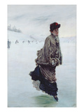 The Skater (Oil on Canvas) Giclee Print by Giuseppe Or Joseph De Nittis