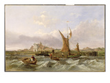 Tilbury Fort - Wind Against the Tide, 1853 (Oil on Canvas) Giclee Print by Clarkson R.A. Stanfield