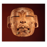 Mask, Olmec Culture (Wood) Giclee Print by  Pre-Columbian