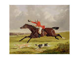 Encouraging Hounds, 1839 (Oil on Panel) Giclee Print by John Frederick Herring Snr