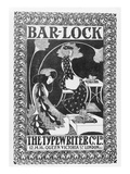 Advertisement for Bar-Lock Typewriters, C.1895 (Litho) Giclee Print by  English