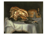 Still Life with Joint of Beef on a Pewter Dish, C.1750-60 Giclee Print by George, of Chichester Smith