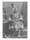 Maharaja Pratap Singhji of Jammu and Kashmir (Engraving) Giclee Print by  English Photographer