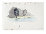 Fisherman, from the 'Journal of a Tour Down the Wye', Printed in 1786 (Pen and Ink with W/C) Giclee Print by A. Cooper