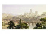 Durham Cathedral, 1846 (W/C with Bodycolour over Graphite on Paper) Premium Giclee Print by George Arthur Fripp