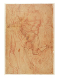 Figure Study (Red Chalk on Paper) Giclee Print by  Michelangelo Buonarroti