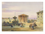 The Temple of Vesta, Rome, 1849 (W/C over Graphite on Paper) Giclee Print by James Holland