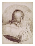 Self Portrait, C.1771-75 (Pen and Brown Ink on Wove Paper) Giclee Print by James Jefferys