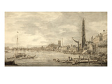 The Thames Looking Towards Westminster from Near York Water Gate Giclee Print by  Canaletto