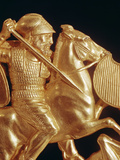 Comb Ornamented with Warrior in Combat (Gold) (Detail of 389348) Giclee Print by  Greek