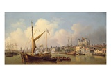 The Thames and the Tower of London Supposedly on the King's Birthday, 1771 Giclee Print by Samuel Scott