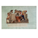 Making Saltpetre (Gouache on Card) Giclee Print by  Lesueur Brothers