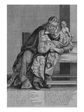 Illustration to Thomas Killigrew's Poem 'Letcherie', C.1664 (Engraving) Lmina gicle por Wenceslaus Hollar